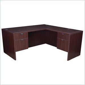Regency L-shaped Desk - Regency Legacy 60-inch Double Pedestal L-Desk with 35-inch Return- Mahogany