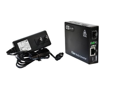 FMC-1000MS Gigabit Ethernet 10/100/1000BaseTx to dual speed SFP slot fiber media converter - web managed by CTCUnion (Image #1)