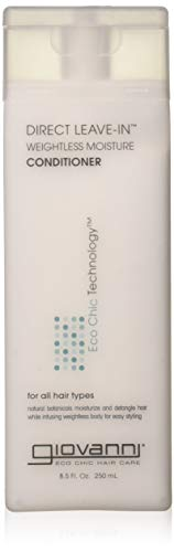 GIOVANNI COSMETICS - Eco Chic Direct Leave-In Conditioner- Weightless Moisture For All Hair Types- 3 Pack (8.5 Ounce - Giovanni Direct Conditioner Leave In