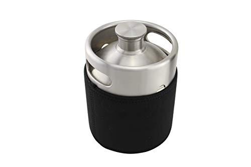 The Weekend Brewer 64 Ounce Mini Keg Insulator Sleeve, Neoprene, Black, 64oz