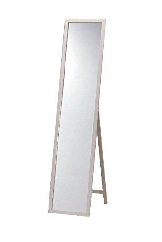 天然パイン材 木製スタンドミラー シルバー 幅33cmx高さ150cm 全身 飛散防止 B006I5Y3TK シルバー シルバー
