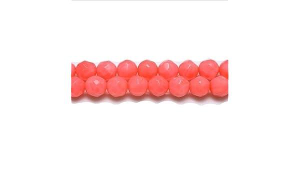 Strand 105 8mm Frosted Orange Glass Plain Round Beads UK