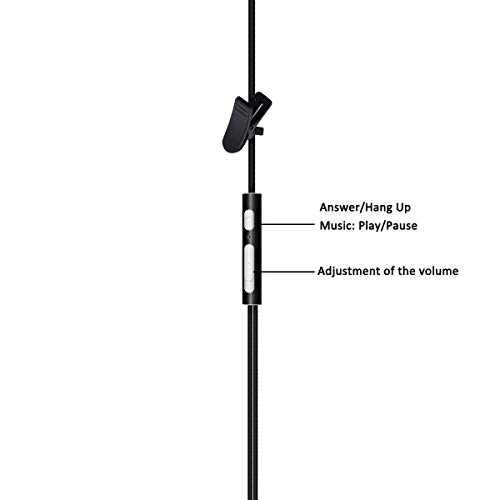 HYS Cell Phone Earpiece with Mic, Hands Free Anti-Radiation Air Tube Headset for iPhone ipad Samsung LG HTC and Most Smartphones with 3.5mm Headset Jack