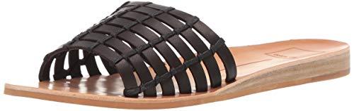 - Dolce Vita Women's COLSEN Slide Sandal Black Leather 5.5 M US