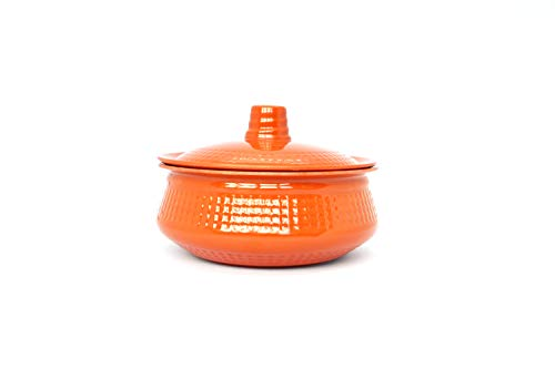 Curry Rice Dishes - Dinewell DWH3063 Melamine Round Medium Handi with Lid