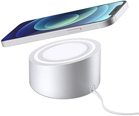 Stouchi for MagSafe Charger Stand Holder, Aluminum Hands Free Dock Mount Base Compatible with MagSafe Magnetic Charging iPhone 12/ Pro/Pro Max/Mini