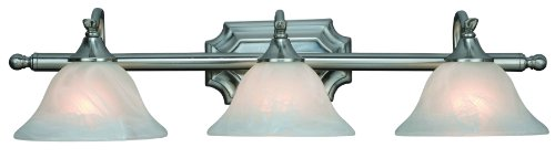 (Hardware House H10-4777 Dover 3-Light Bath or Wall Fixture, Satin Nickel)