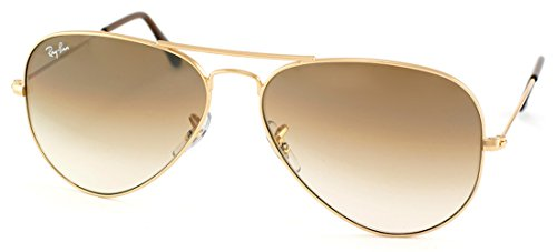 Authentic Ray-Ban Aviator RB 3025 001/51 62mm Gold / Brown Gradient Lenses Large