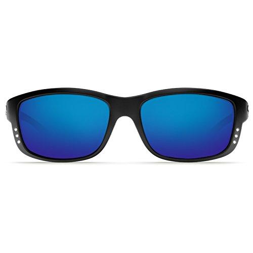 Costa Del Mar Zane Sunglasses, Black, Blue Mirror 580P Lens from Costa Del Mar
