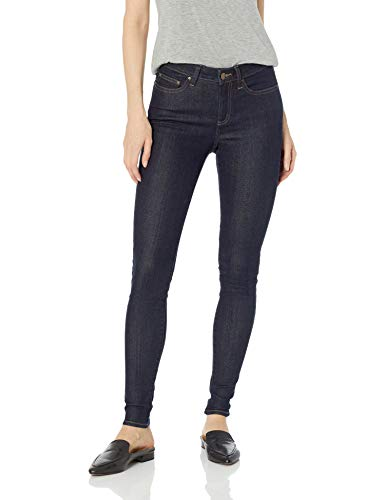 Amazon Brand - Daily Ritual Women's Mid-Rise Skinny Jean, Pure Indigo, 28 (6) Long (Best Selling Clothing Brands)