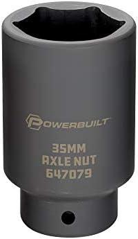 Qiilu 5-Pc 1//2inch Drive Hub Nut Hex Socket Set Garage Tools 30mm 32mm 34mm 35mm 36mm Hub Nut Hex Socket Kit