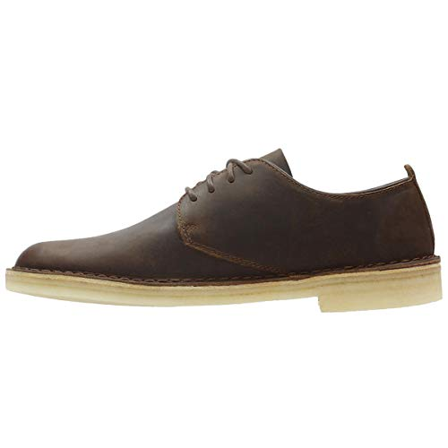 Clarks Marrone Scarpe Leather Desert London Beeswax Uomo Originals Stringate rSgYwrR