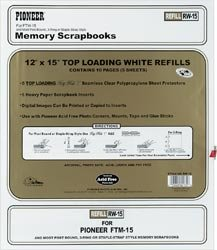 Bulk Buy: Pioneer Postbound Top Loading Page Protectors 5/Pkg 12X15 (With White Inserts) RW15 (3-Pack)