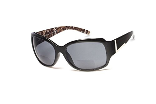 - Jackie O Designer Style Outside Bifocal Reading Glasses - Black +1.25