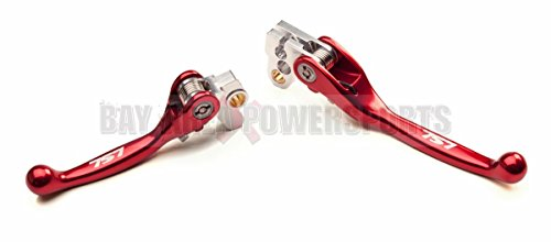 757 Honda Flex Brake And Clutch Lever Set Red CR 80 85 125 250 500 CRF 150R 450R Clutch Levers Set