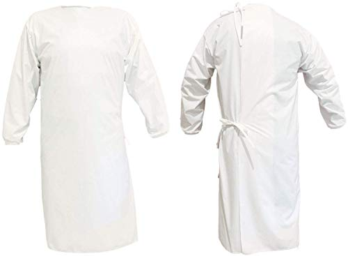 Sky-Surgical Disposable Laminated Gown Dress Surgeon Gown | Back Tie | Unisex | Water Proof | Water Repellent | Blood Resistant | White Color | Non Woven Fabric Laminated Gown Dress Pack of 2 Price & Reviews
