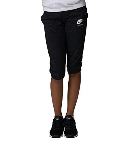 Nike Big Girls Sportswear Gym Vintage Knit Capri Sweatpants - Heathered Black (Medium)