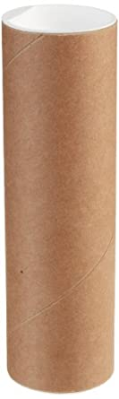 """Mailing Tubes with Caps, 2"""" x 6"""" Kraft - (50/Case)"""