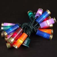 Novelty Lights, Inc. 20LT-BUCKS-G-MU Commercial Grade Shotgun Shell Mini Light Set, Green Wire, Multi Color Shells, 20 Light, 4