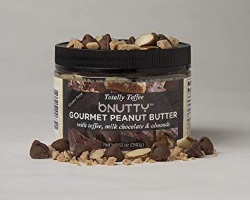 B Nutty Peanut Butter, Toffee 12.0 OZ (Pack of 12)