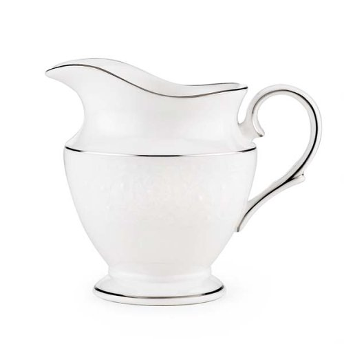 Lenox Floral Veil Bone China Platinum Banded Creamer from Lenox