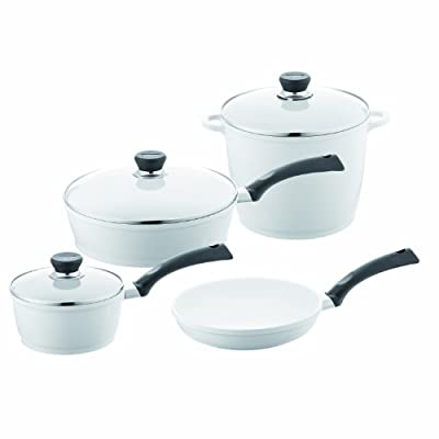 Berndes 697600 SignoCast Pearl Ceramic Coated Cast Aluminum 7-Piece Cookware Set