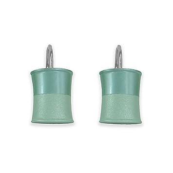 Amazon.com: Jessica Simpson Kensley Shower Curtain Hooks in Aqua ...