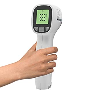 Forhead Thermometer for Adults, (Batteries Not Included), Non-Contact Thermometer for Adults and Babies, Accurate and Instant Readings