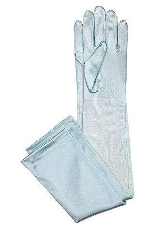[Elegant Stretch Satin Long Fabric Gloves - Opera/Full Length - Size: 23