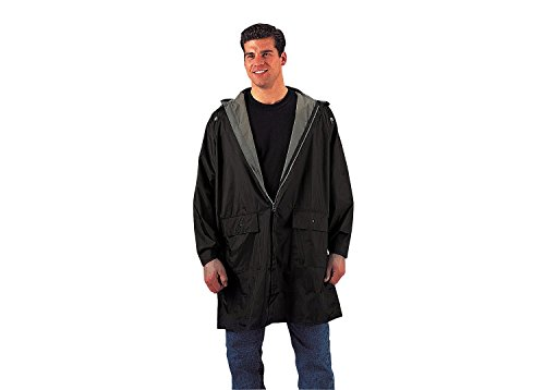 Rothco 3/4 Length Rain Parka, Black/Olive Drab, Large