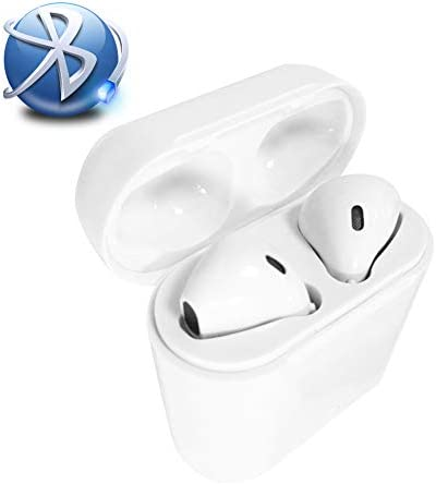 Bluetooth Headphones Wireless Earbuds with Fast Charging Case IPX7 Waterproof 3D Stereo Earphones Noise-Canceling in-Ear Built-in Mic Headset for Apple Airpods Android iPhone