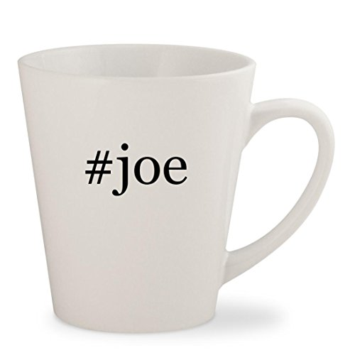 #joe - White Hashtag 12oz Ceramic Latte Mug Cup