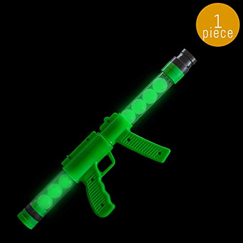 Lumistick 19 Inch Power Popper Foam Bullet Blaster Gun | Atomic Pump Dark Moon Shooter Balls Pistol | Ultra Bright Glowing Bullet Toy Handgun (1 -