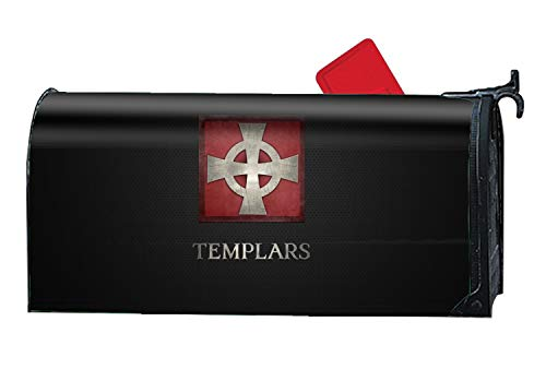 XW-FGF Artistic Templars Magnetic Mailbox Cover Fits Standard-Sized Mailboxes, 9