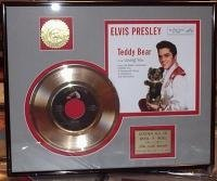 Elvis Presley'Teddy Bear' Framed 24Kt Gold Record Display Gold Record Outlet