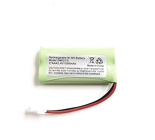 for Vtech Battery DM222 DM221 Audio Baby Monitor Parent Unit ((2.4V NIMH 800Mah)) Ships from The USA