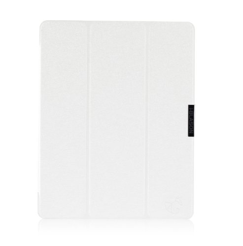 i-Blason Apple iPad Air Case (5th Generation) i-Folio Smart Cover Slim Hard Shell Stand Case Cover [Life Time Warranty] - White at Electronic-Readers.com