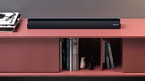 """3137fFpXTRL Haz clic aquí para comprobar si este producto es compatible con tu modelo Potente Bluetooth Mini Soundbar System: experiencia de entretenimiento para juegos o cine en casa con su TV; ideal para televisores y monitores pequeños con una diagonal de pantalla de 32"""" o superior Perfecto para la sala de estar, la cocina, el comedor o incluso el dormitorio; se adapta a la pantalla de la mayoría de los televisores y monitores gracias a su perfil bajo y delgado (6 cm);"""