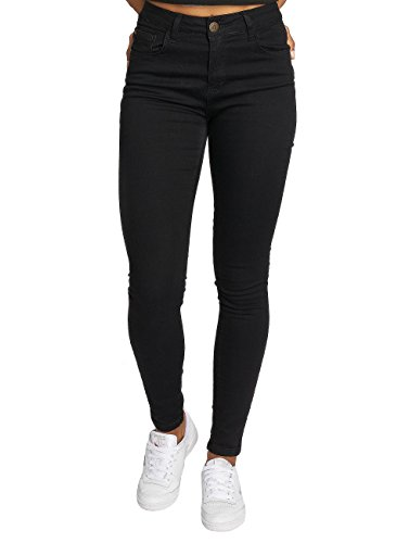 Just Rhyse Mujeres Vaqueros/Jeans de Cintura Alta Buttercup Negro
