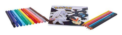Auguri-Preziosi-Mochila-rgida-con-ruedas-tamao-pequeo-incluye-rotuladores-y-lpices-de-colores-diseo-de-Pokemon