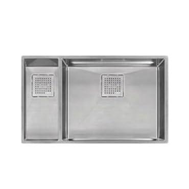 Franke PKX160LH Peak 30 7/8 x 17 3/4 x 9 5/8 16 Gauge Undermount Dual Bowl Stainless Steel Kitchen Sink