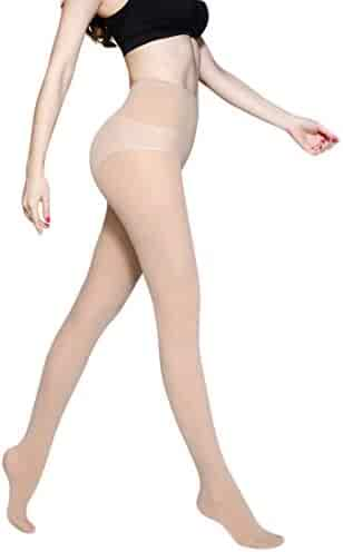 546d1735e51 Capturelove Womens Semi Opaque Pantyhose Control Top Tights Spring 50Den