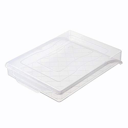 Aland Clear Home Kitchen Frozen Dumpling Storage Box Refrigerator Fresh-keeping Tray Transparent Color