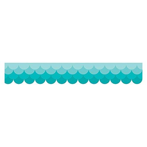 Creative Teaching Press Ombre Turquoise Scallops Borders (0182) -