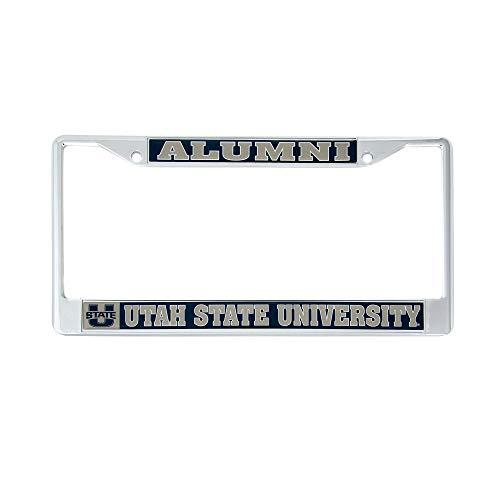 Desert Cactus Utah State University Alumni Metal License Plate Frame for Front Back of Car Officially Licensed USU Aggies (Alumni) (Utah State License Plate)