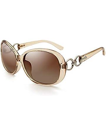5da5a9636 VeBrellen Luxury Women Polarized Sunglasses Retro Eyewear Oversized Goggles  Eyeglasses (Transparent Green Frame Grey Lens