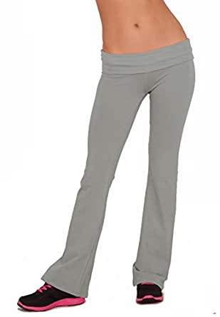 Women's Active Casual Fitted Jersey Low Rise Solid Color Long Stretch Yoga Pants