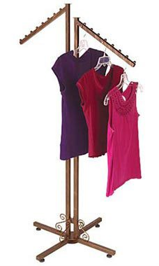 Boutique Cobblestone 2-Way Clothing Rack - Slant Arms - STOR-60487 by Miller Supply Inc