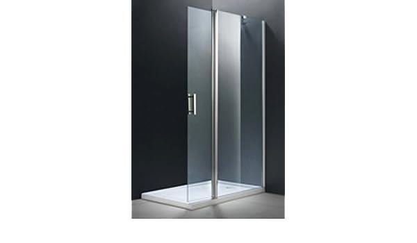 Lateral fijo ducha y puerta abatible. 80+40cm. Cristal ...
