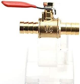 no-branded Industrial Agricultural Machinery 1//4inch Brass Ball Valve Full Port Crimp Shut-Off Valve for P E-X Tubing Valve ZYUS